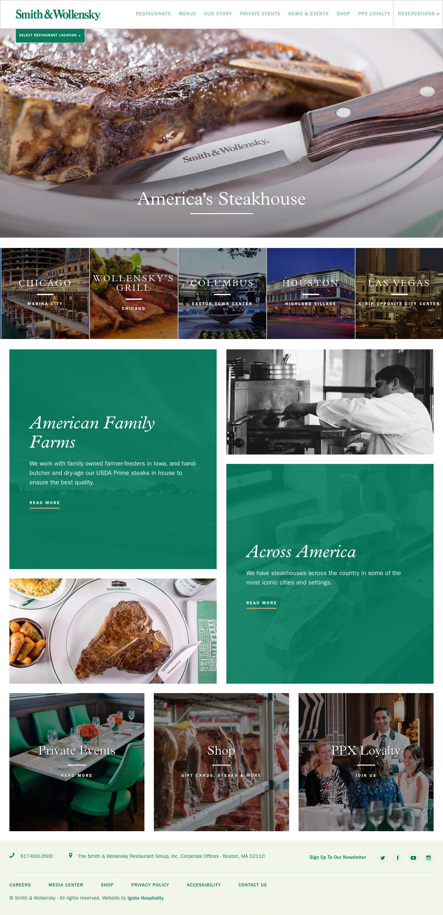Smith Wollensky Homepage